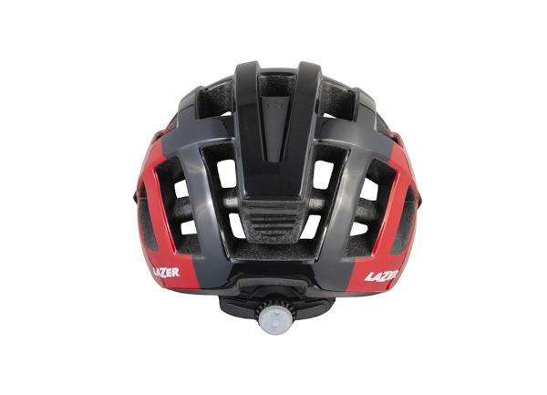 casco lazer sport compact DLX negro rojo..