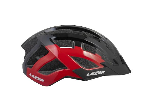 casco lazer sport compact DLX negro rojo